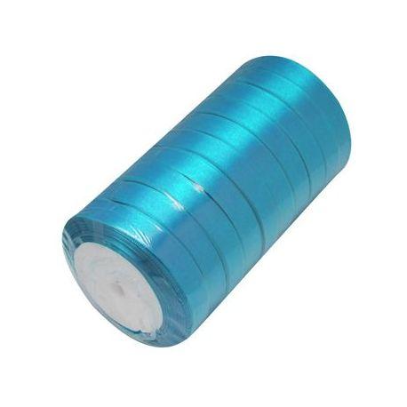 Satino juostelė, žydros-elektrinės spalvos, 16 mm pločio, 22 metrai