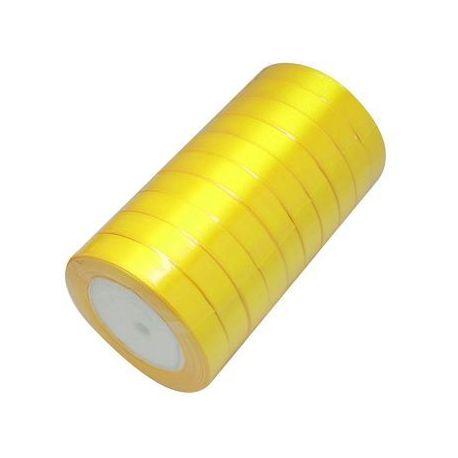 Satino juostelė, geltonos spalvos, 16 mm pločio, 22 metrai