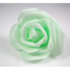 Dekoratyvinė gėlytė rankdarbiams - rožė 6-7mm, žalsvos spalvos 1 vnt.