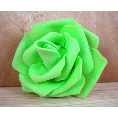 Dekoratyvinė gėlytė - rožė 6-7mm, salotinės spalvos 1 vnt.
