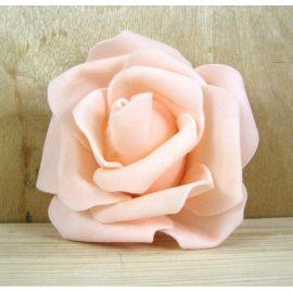 Dekoratyvinė gėlytė rankdarbiams - rožė 6-7mm, persiko spalvos 1 vnt.