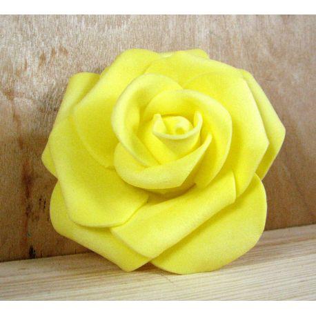 Dekoratyvinė gėlytė - rožė 6-7mm, geltonos spalvos 1 vnt.
