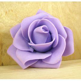 Dekoratyvinė gėlytė rankdarbiams - rožė 6-7mm, alyvinės spalvos 1 vnt.