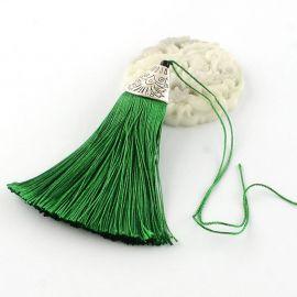 Poliesterio kutas rankdarbiams, žalios spalvos su kepurėle, 80x20 mm, 1 vnt.