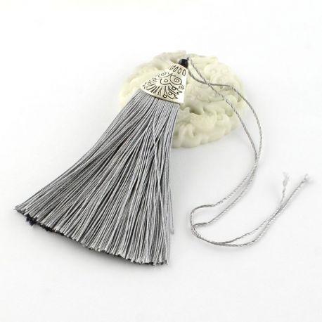 Poliesterio kutas rankdarbiams, tamsiai pilkos spalvos su kepurėle, 80x20 mm, 1 vnt.