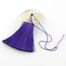 Poliesterio kutas rankdarbiams, violetinės spalvos su kepurėle, 80x20 mm, 1 vnt.