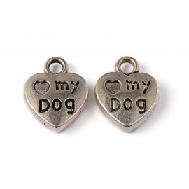 "Pakabukas ""My dog"" 13x10 mm, 1 vnt."