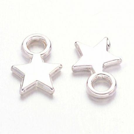 """Pakabukas """"Žvaigždutė"""" apyrankėms, sidabro spalvos, 10x8 mm"""