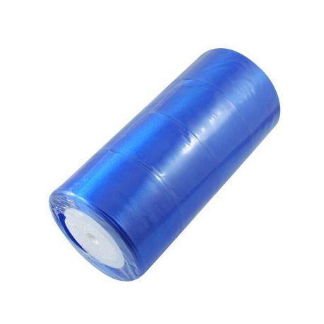 Satino juostelė rankdarbiams, papuošalams, suvenyrams, žaislams, verslo dovanoms mėlynos spalvos, 50 mm pločio, ritėje 22 metra