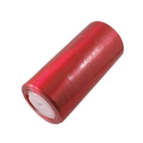 Satino juostelė, raudonos spalvos, 50 mm pločio, 1 metras