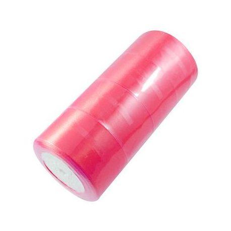 Satino juostelė rankdarbiams, papuošalams, suvenyrams, žaislams, verslo dovanoms ryškiai rožinės spalvos, 50 mm pločio, ritėje 2