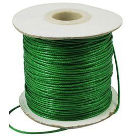 Vaškuota poliesterio virvelė, žalios spalvos 1.00 mm