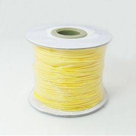 Vaškuota poliesterio virvelė, geltonos spalvos 1.00 mm