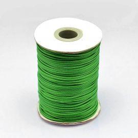 Vaškuota poliesterio virvelė, šviesiai žalios spalvos 1.00 mm