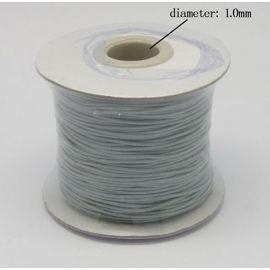 Vaškuota poliesterio virvelė, šviesiai pilkos spalvos 1.00 mm