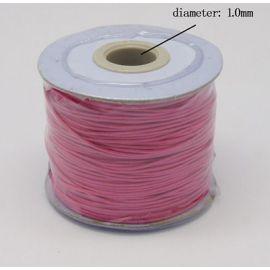 Vaškuota poliesterio virvelė, raudonos spalvos 1.00 mm