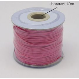 Vaškuota poliesterio virvelė, ryškios rožinės spalvos 1.00 mm