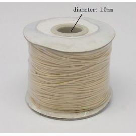 Vaškuota poliesterio virvelė, šviesios gelsvos spalvos 1.00 mm