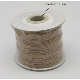 Vaškuota poliesterio virvelė, smėlio spalvos 1.00 mm