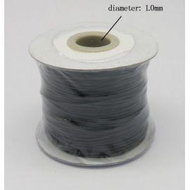 Vaškuota poliesterio virvelė, juodos spalvos 1.00 mm