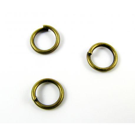 Viengubi žiedeliai skirti papuošalų gamybai sendintos bronzinės spalvos 7x7mm