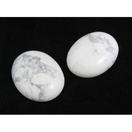 Houlito kabošonas skirtas papuošalų gamybai pilkos baltos spalvos ovalo formos