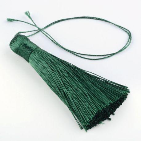 Poliesterio kutas rankdarbiams, papuošalams, suvenyrams gaminti, tamsios žalios spalvos, dydis apie 80x13 mm