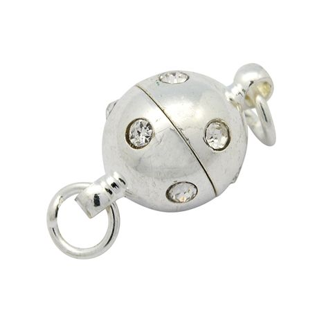 Magnetinis užsegimas vėriniui užsekti sidabro spalvos