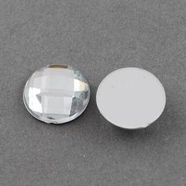 Acrylic cabochon 8x8x4 mm