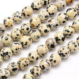 Dalmatininio Jaspio karoliukų gija 10 mm
