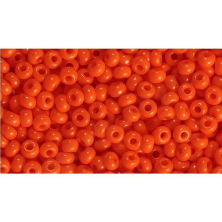 Čekiškas biseris 10/0 (2,3 mm) 93140-10 oranžinės spalvos, apvalios formos 50g