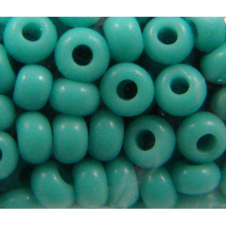 Čekiškas biseris 10/0 (2,3 mm) dydžio, 63120-10, žydra spalva, apvalios formos 50g