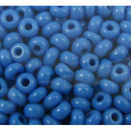 Čekiškas biseris 8/0 (2,9 mm) 63080-8 melsvos spalvos, apvalios formos 50g