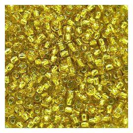Preciosa biseris (87030-8) skaidrios geltonos spalvos su folija 50 g