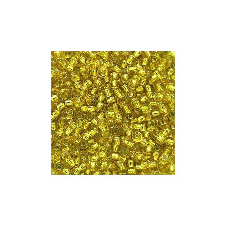 Preciosa biseris (87050-8) skaidrios geltonos spalvos su folija 50 g