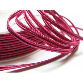 Sutažo juostelė Pega A7401 ryškiai purpurinės spalvos 3 mm pločio 100% viskozė Gamintojas Čekija