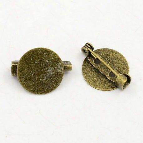 Užsegimas sagei, sendintos bronzinės spalvos, 19x15 mm, 5 vnt.
