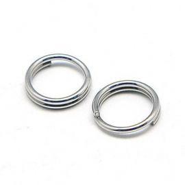 Nerūdijančio plieno dvigubi žiedeliai 5 mm, 20 vnt.