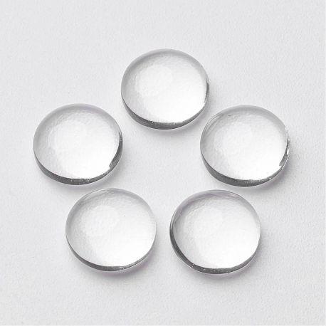 Stiklinis kabošonas skaidrus apvaios formos 15x4 mm