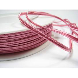 Sutažo juostelė Pega A1403 rožinės spalvos 3 mm pločio 100% viskozė Kilmės šalis Čekija