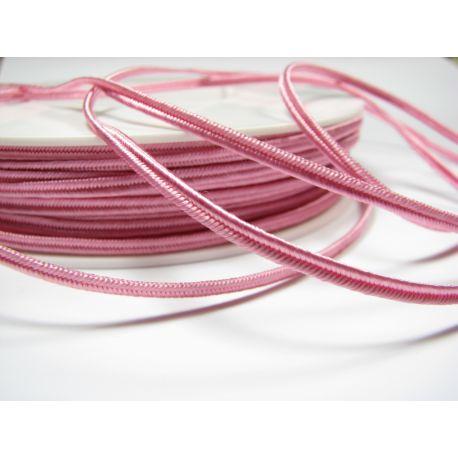 Sutažo juostelė Pega A1405 rožinės spalvos 3 mm pločio 100% viskozė Kilmės šalis Čekija