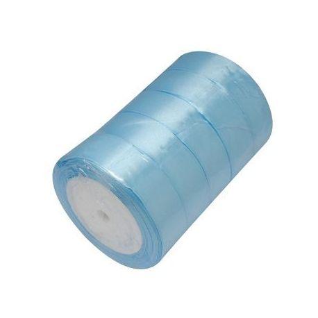 Satino juostelė rankdarbiams, papuošalams, suvenyrams, žaislams gaminti. Žydros spalvos 25 mm pločio, 1 metras