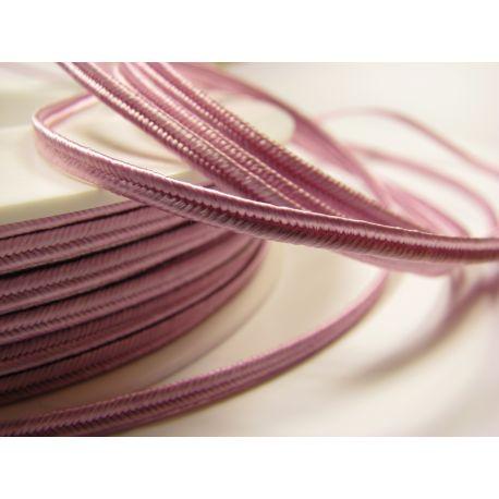 Sutažo juostelė Pega A1601 šviesiai rožinės spalvos 3 mm pločio 100% viskozė Kilmės šalis Čekija