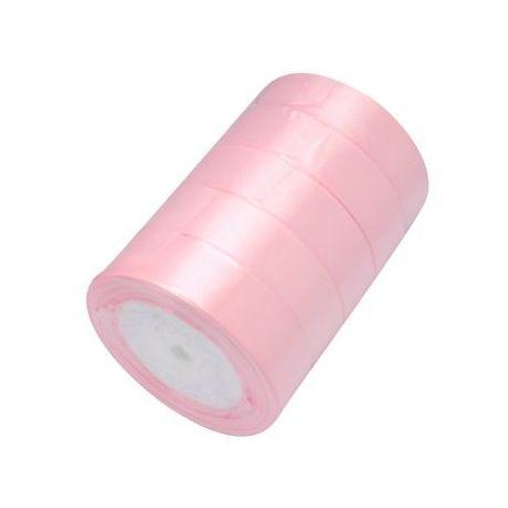 Satino juostelė, šviesios rožinės spalvos, 25 mm pločio, 1 metras
