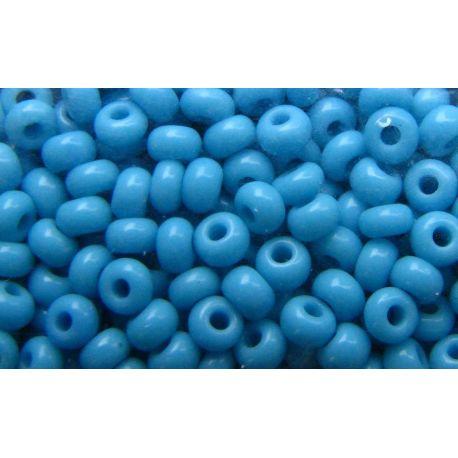 Čekiškas biseris 11/0 (2,1 mm) dydžio, 63030-11 ryškiai melsvos spalvos, apvalios formos 50g