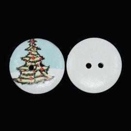Dekoratyvinė medinė saga, monetos formos su eglutės motyvais, skirta papuošimams, dekoracijoms, suvenyrams, dovanoms. Žydros spa