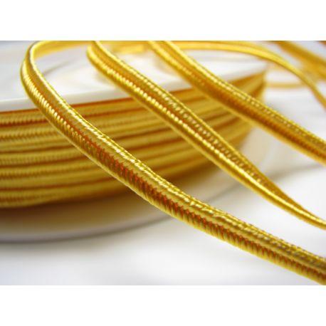 Sutažo juostelė Pega A1202 ryškiai geltonos spalvos 3 mm pločio 100% viskozė Kilmės šalis Čekija