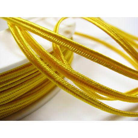 Sutažo juostelė Pega A4202 ryškiai geltonos spalvos 3 mm pločio 100% viskozė Kilmės šalis Čekija