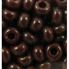 Čekiškas biseris 4/0 (5,1 mm) dydžio, 13780-4 tamsiai ruda spalva, apvalios formos 50g