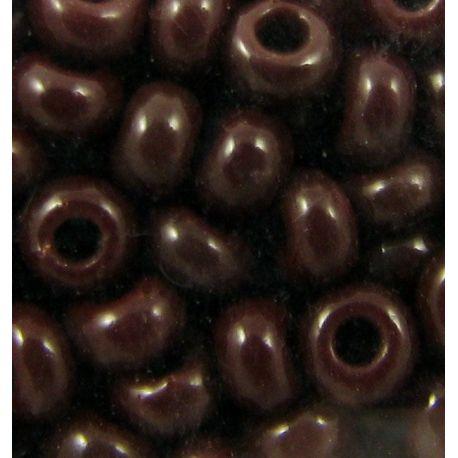 Preciosa Rocailles biseris (13780-4) tamsiai rudos spalvos 50 g